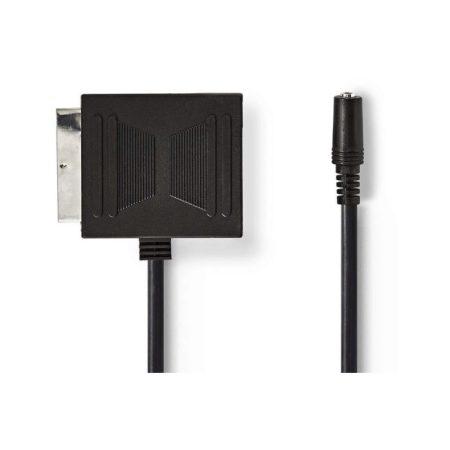 SCART-adapter   SCART Dugasz - SCART-aljzat + 3,5 mm-es Aljzat   0,2 m   Fekete