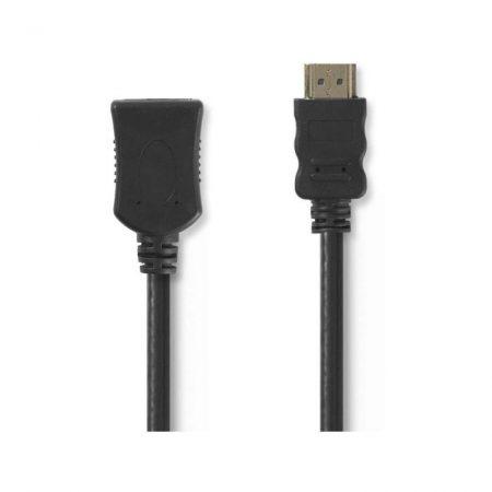 Nagy sebességű HDMI™ kábel Ethernet átvitellel | HDMI™ Csatlakozó - HDMI™ Aljzat | 2,0 m | Fekete
