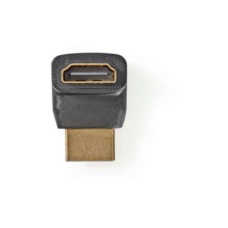 HDMI-adapter | HDMI-csatlakozó - HDMI-aljzat | 270°-ban Hajlított | Fekete