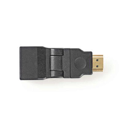 HDMI-adapter | HDMI-csatlakozó - HDMI-aljzat | Forgatható | Fekete
