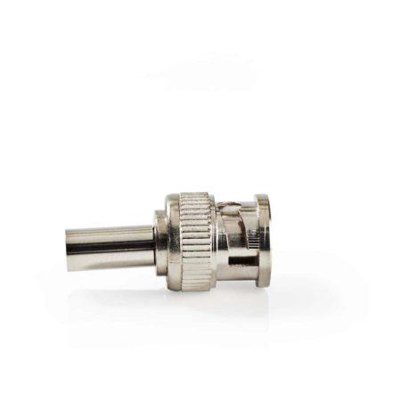 BNC-csatlakozó | Tüske | 6 mm-es Koax Kábelekhez | 25 darab | Fém
