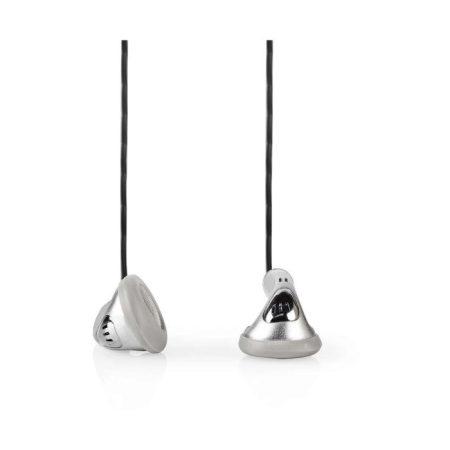 Vezetékes Fejhallgatók | 1,2 m-es Kerek Kábel | Fülhallgató | Ezüst