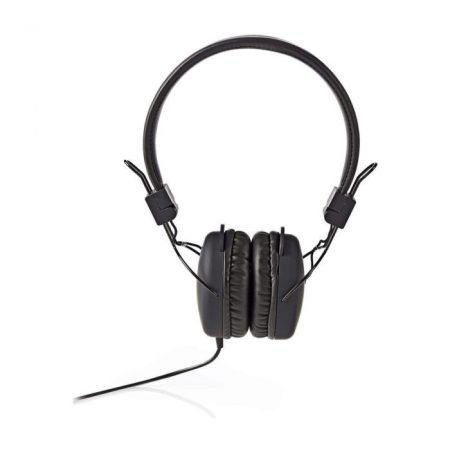 Vezetékes Fejhallgatók | Fülre illeszkedő | Összehajtható | 1,2 m-es Kerek Kábel | Fekete