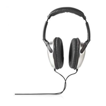 Fül Köré Illeszkedő Fejhallgató | 2,70 m-es Vezeték | Ezüst/Fekete