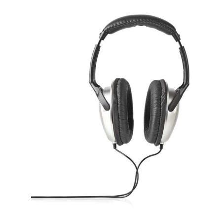 Fül Köré Illeszkedő Fejhallgató | 6,00 m-es Vezeték | Ezüst/Fekete