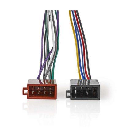 Sony 16 tűs ISO-kábel | Rádiócsatlakozó - 2 db Autós Csatlakozó | 0,15 m | Többszínű