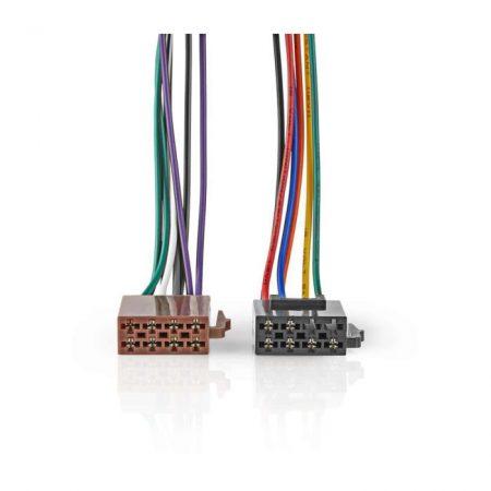 Szabványos ISO-kábel | Rádiócsatlakozó - 2 db Autós Csatlakozó | 0,15 m | Többszínű