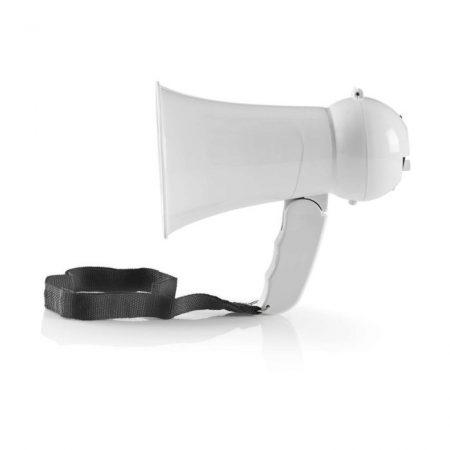 Megafon | 15 W | 100 méteres Hatótávolság | Beépített Mikrofon | Fehér