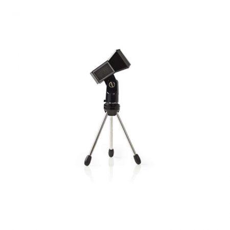 Asztali Mikrofonállvány | Max 0,8 kg | Fekete | | Ezüst