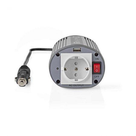 Tápinverter Módosított Szinuszhullám | 24 V DC - 230 V AC | 150 W | 1 db Schuko / 1 db USB-kimenet