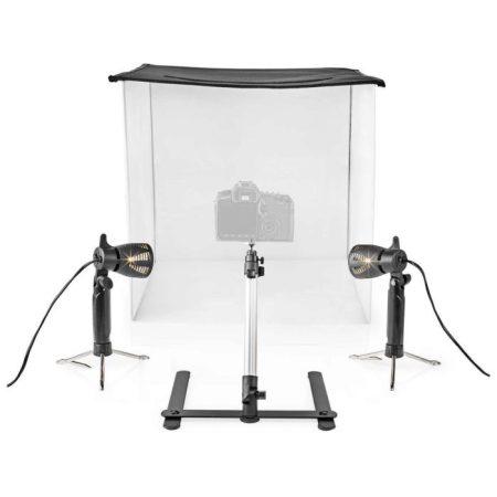 Fotóstúdió-készlet | 60 x 60 cm | 6500 K | Összehajtható